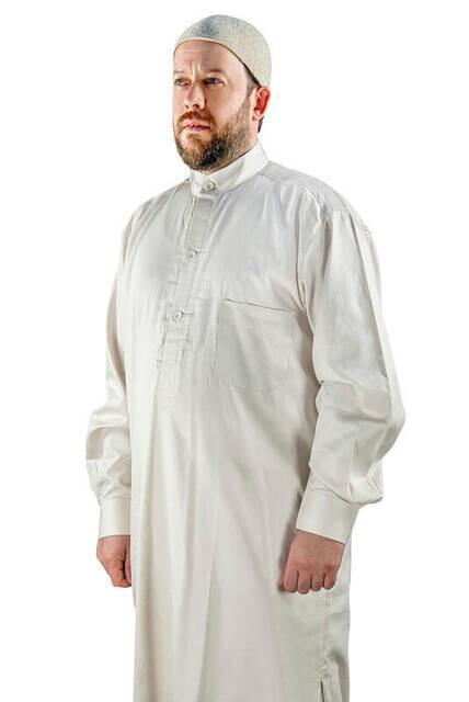 Umre ve Hac Kıyafeti Afgan Takımı - Alt ve Üst - Krem