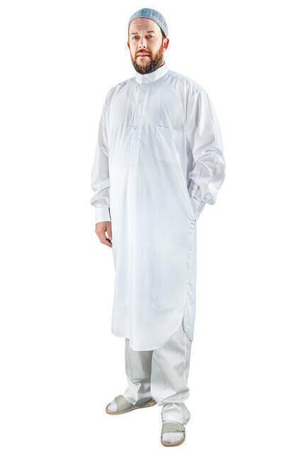 Umre ve Hac Kıyafeti Afgan Takımı - Beyaz