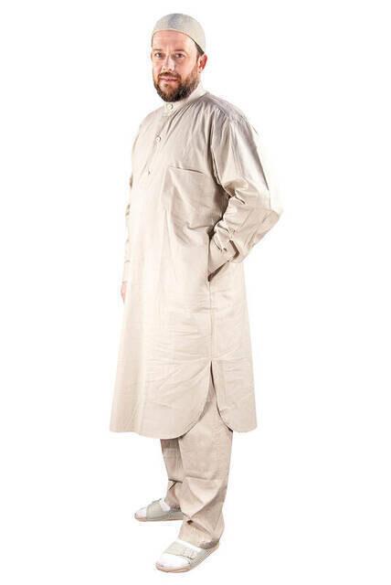 Umre ve Hac Kıyafeti Afgan Takımı - Krem