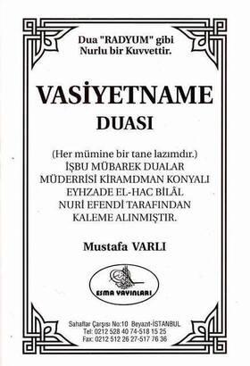 Esma Yayınları - Vasiyetname Duası-1357