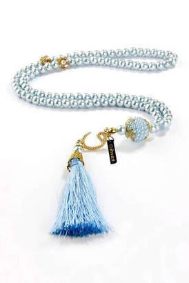 İhvan - Vavlı Tuğralı 99 lu İnci Tesbih - Mavi