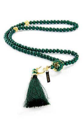 İhvan - Vavlı Tuğralı 99 lu İnci Tesbih - Yeşil