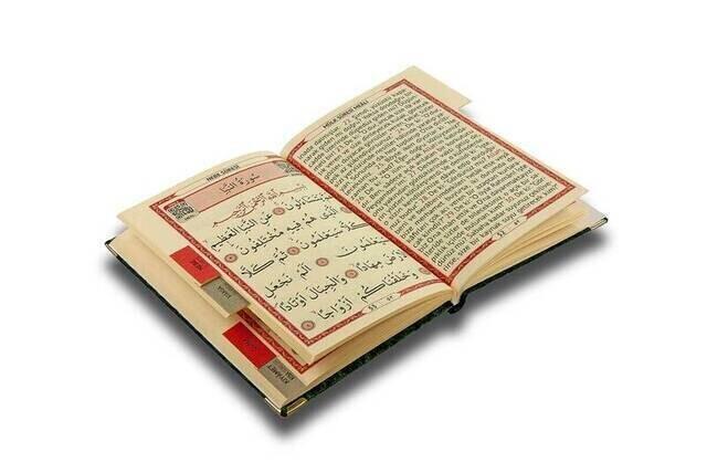 Velvet Coated Yasin Book - Bag Boy - Name Printed Plate - Rosary - Transparent Boxed - Black - Gift Yasin Set (2)