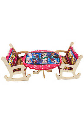 İhvan - Wooden Table Chair Toy Set - Oversized