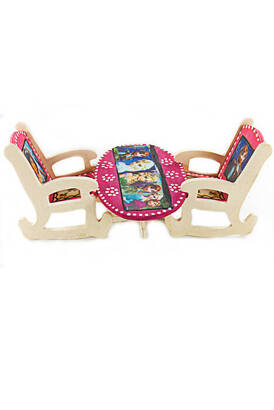 İhvan - Wooden Table Chair Toy Set - Small Size