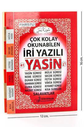 Fetih Yayınları - Yasin Kitabı - Çanta Boy - 128 Sayfa - İri Yazılı - Fetih Yayınları - Mevlid Hediyeliği