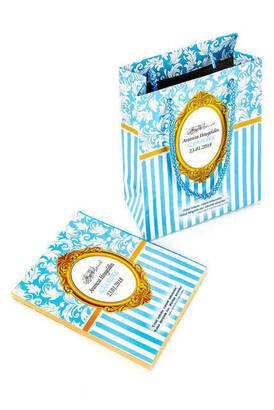 Furkan Neşriyat - Yasin Kitabı - Çanta Boy - 128 Sayfa - Özel İsim Etiketli - Karton Çantalı - Mavi Renk - Mevlid Hediyeliği