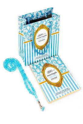 Furkan Neşriyat - Yasin Kitabı - Çanta Boy - 128 Sayfa - Özel İsim Etiketli - Karton Çantalı - Tesbihli - Mavi Renk - Mevlüt Hediyeliği