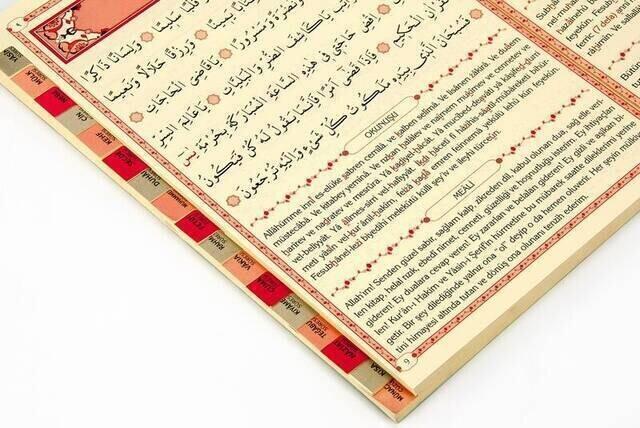 Yasin Kitabı - Orta Boy - 224 Sayfa - Fihristli - Ciltli - Gül Kokulu - Münacaat Cüzü - Ayfa Yayınevi - Mevlid Hediyeliği