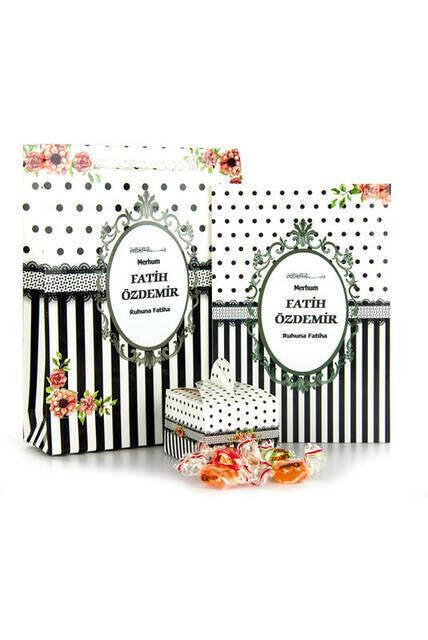 Yasin Book - Pocket Boy - 64 Pages - Name Tagged - Sugary - Cardboard Bag - Black Color - Mevlid Gift