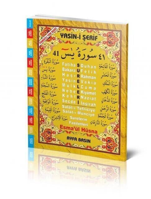 Yasin Book - Rahle Boy - 64 Pages - Fihristli - Ayfa Publishing House - Mevlid Gift