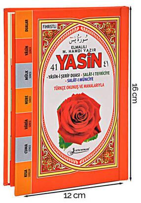 Fetih Yayınları - Yasini Şerif Kitabı - Çanta Boy - 128 Sayfa - Ciltli - Pembe Renk - Fetih Yayınları - Mevlid Hediyeliği