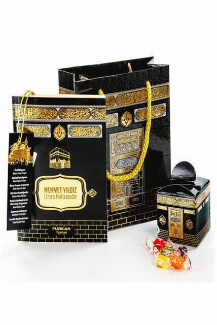 Yasin Set - Bag Boy - 128 Pages - Name Plate - Bag - Sugary - Kaaba View - Community Gift