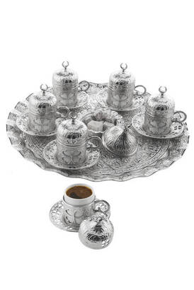 İhvan - Yonca Yuvarlak 6'lı Kahve Seti Kutulu 113-A-K-11