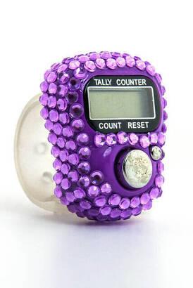 İhvan - Zirkon Zikirmatik - Digital Ring - Purple Color